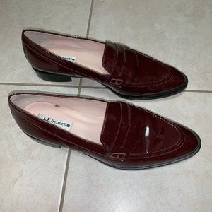 LK bennett Maroon Patent Leather Loafer 9 Euro 40